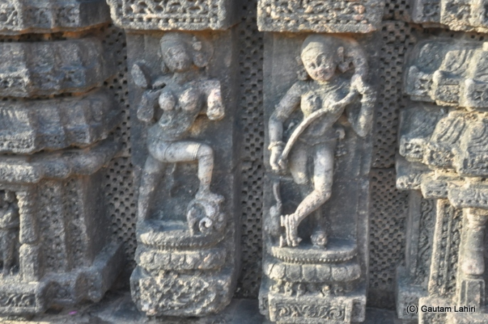 You can see the lady on the right wearing high heeled shoes ages ago, which I thought was contemporary  at Puri, Odisha, India by Gautam Lahiri