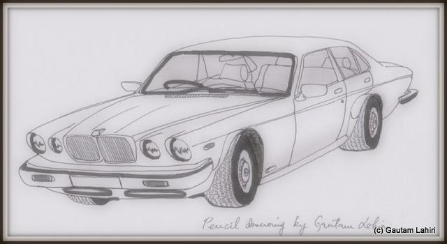 Jaguar XJ-6, drawn by Gautam Lahiri