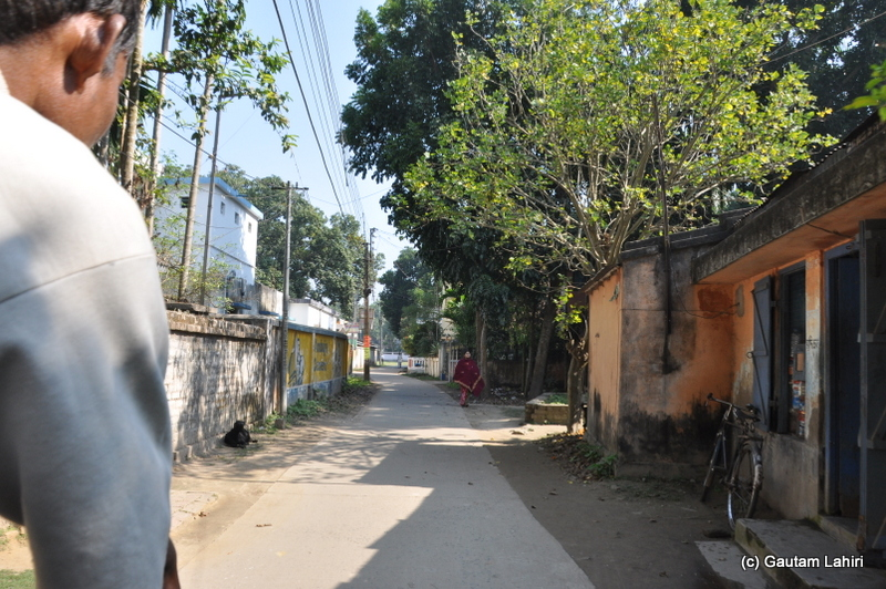Narrow roads formed the backbone of communication in Purbasthali by Gautam Lahiri