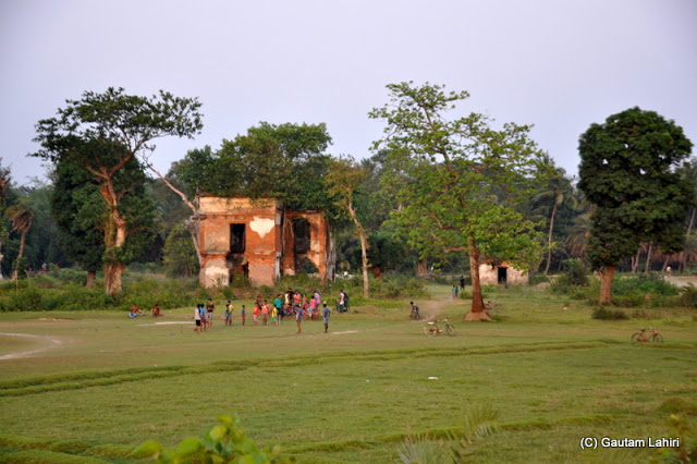 The remnants of a British built war building known as 'Barud Ghar' which was used to store guns and explosives at Bawali Rajbari, Kolkata, West Bengal, India by Gautam Lahiri