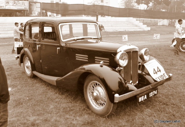 1936 Daimler 15 6 saloon, known for robust design and dependability stood gallantly with her compatriots of 1930s'  at Kolkata, West Bengal, India by Gautam Lahiri