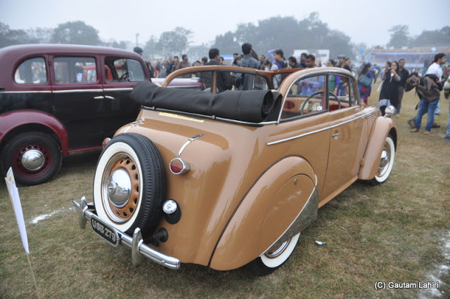 1937 Opel Cabrio 10 HP, 4 cylinders looked very aristocratic with its brown color  at Kolkata, West Bengal, India by Gautam Lahiri