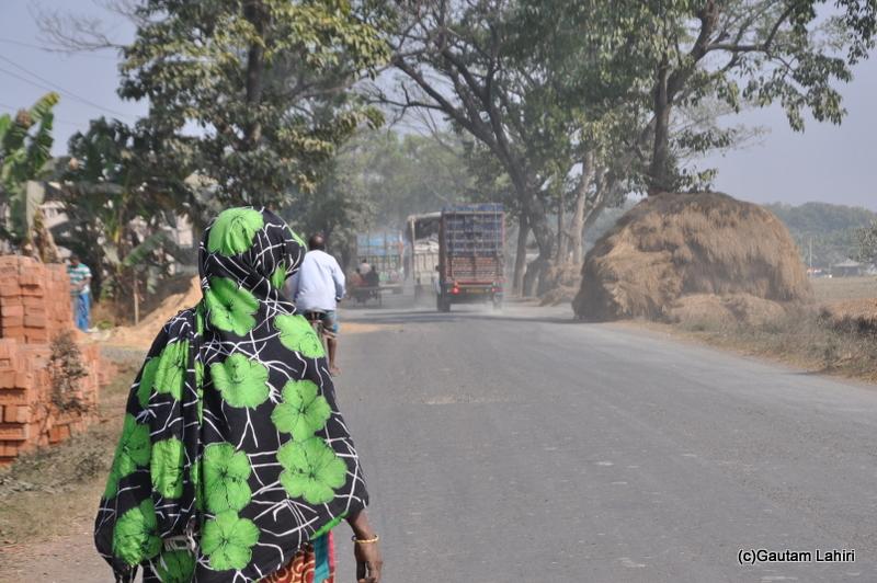 Growing population on the road from Kolkata to Chandraketugarh, taken by Gautam Lahiri