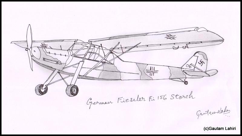 Fieseler Fi 156 Storch Germany 1936 drawn by Gautam Lahiri