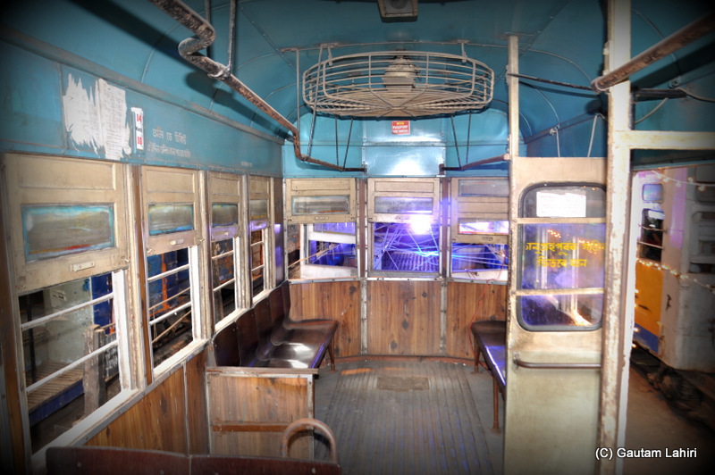 The first class compartment, ladies section of a Calcutta Tramways Tram by Gautam Lahiri at Kolkata, West Bengal, India