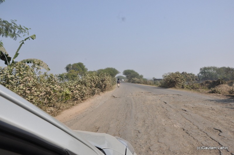 Bad road from Kolkata to Chandraketugarh taken by Gautam Lahiri