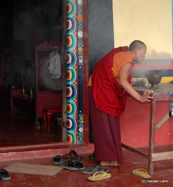 At a Tibetan monastery   at Darjeeling, West Bengal, India by Gautam Lahiri