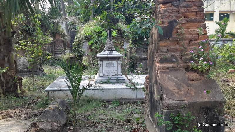 The graves were in very bad shape. Most of them were crumbling away and needed repairs in Chandannagar by Gautam Lahiri
