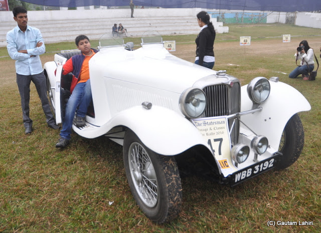 1936 Jaguar, with her 26 HP, 6 cylinder engine was all too powerful for being a 2 seater car  at Kolkata, West Bengal, India by Gautam Lahiri