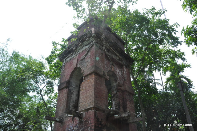A very old water tank constructed of bricks and cement, perhaps 200 years old still stands to deliver its duty for which it was made at Taki, West Bengal, India by Gautam Lahiri