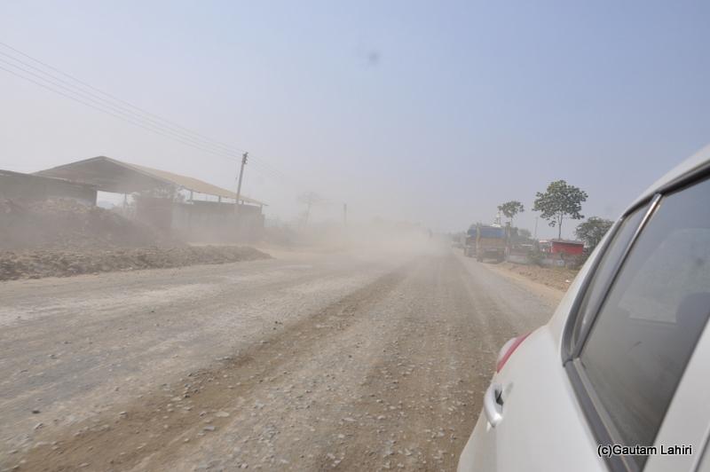 Extremely bad road from Kolkata to Chandraketugarh, taken by Gautam Lahiri