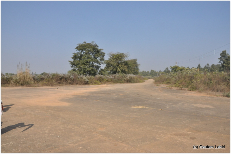 The first glimpse of the British built airfield at Joypur jungle by Gautam Lahiri