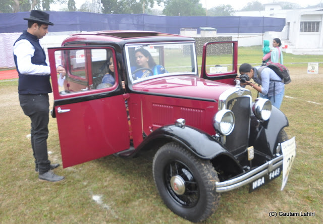 Family fully dressed to start the rally in this 1933 Austin using her 7 HP 4 cylinders engine  at Kolkata, West Bengal, India by Gautam Lahiri