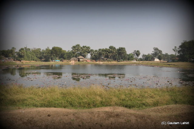 Small to medium lakes on the roadsides  at Santiniketan, West Bengal, India by Gautam Lahiri