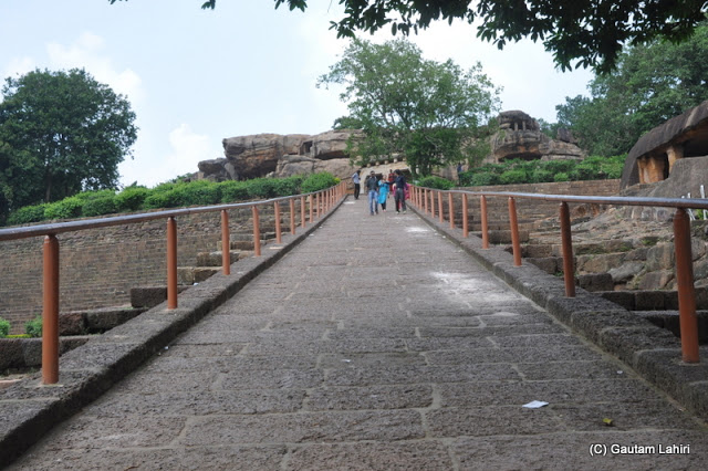 We climbed this road created from rock and took us near the Rani Gumpha  at Bhubaneshwar, Odissa, India by Gautam Lahiri