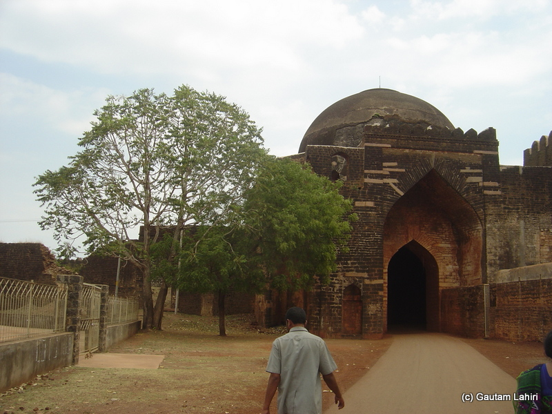 The bare gates of the Gumbaz Darwaza of Bidar fort, Karnataka by Gautam Lahiri