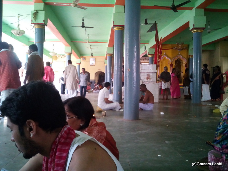 At Gaya, Halfway through my second session as people concentrated around me at the Visnupada temple by Gautam Lahiri