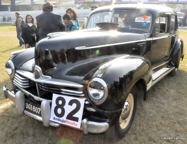 1946 Hudson Super 6 (straight 6 cylinders) seen in her shiny black color was a famous American car which pioneered automotive technology that pushed the USA in the front front  at Kolkata, West Bengal, India by Gautam Lahiri