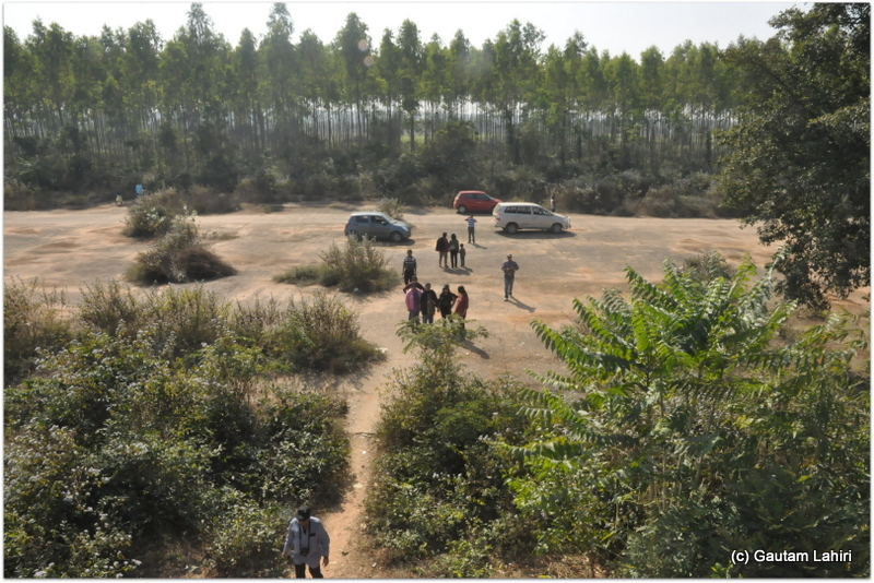 The view from the old watch tower. Rows of sal trees lined the sides. The flying team could be seen on the airfield ready to launch a strike as soon as the radio crackled at British airfield at Joypur jungle, Bankura by Gautam Lahiri