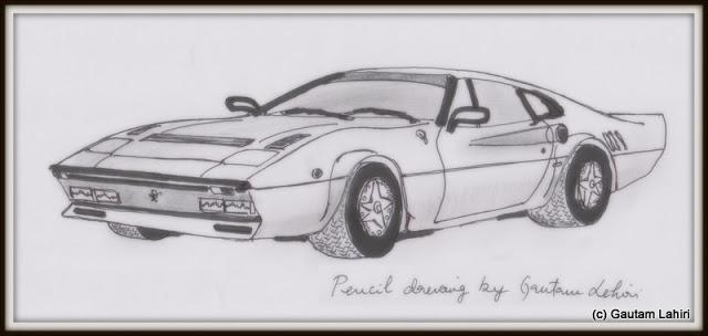 Ferrari GTO, drawn by Gautam Lahiri
