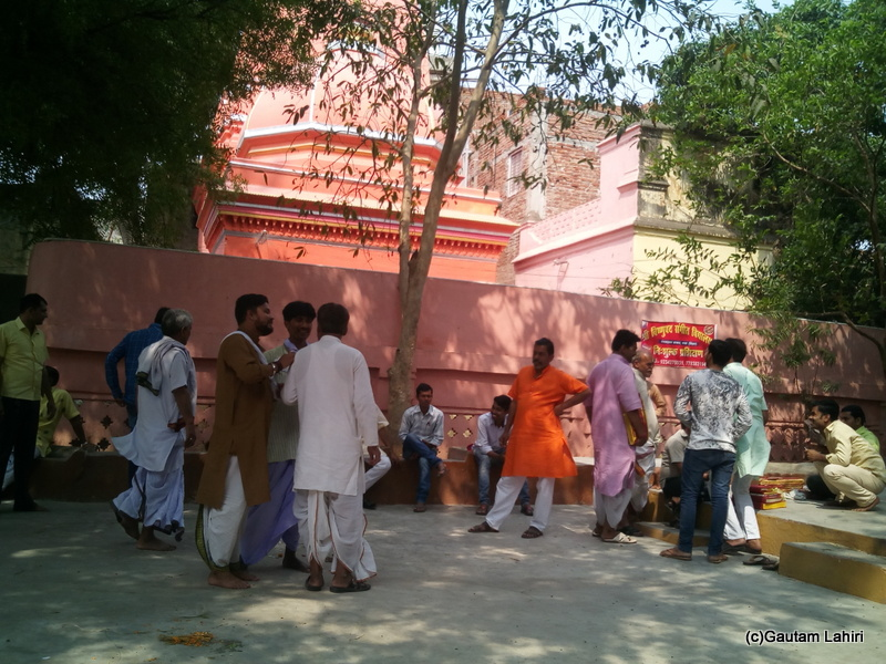 At Gaya, The head panda in the saffron clothes happened to be my ancestral head panda and after another royal battle in regards to fee discussion, my pujas ended on a good note by Gautam Lahiri