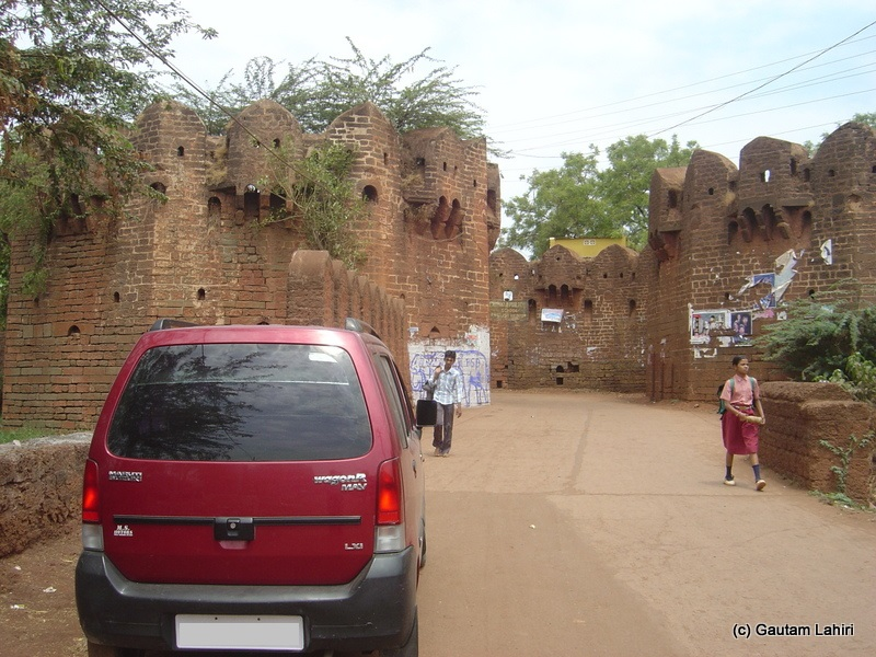 We had parked for a moment alongside the outer skin of the fort. The road meandered inside into more edifices that adorned the surrounding from Hyderabad to Bidar by Gautam Lahiri