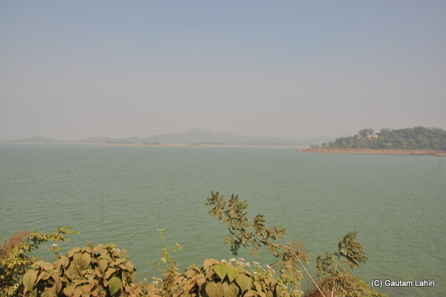 Lake from the other side of the dam  at Massanjore, Jharkhand, India by Gautam Lahiri