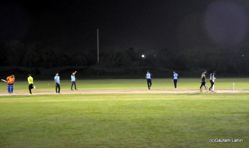 Cricket match fielders arranging at field positions by Gautam Lahiri