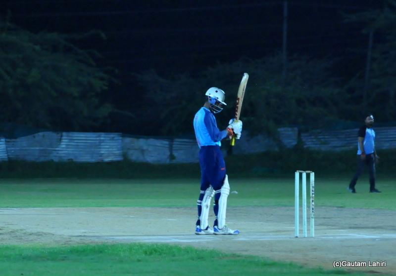 Batsman gets ready by Gautam Lahiri