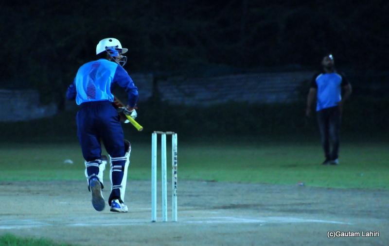 Batsman in action by Gautam Lahiri