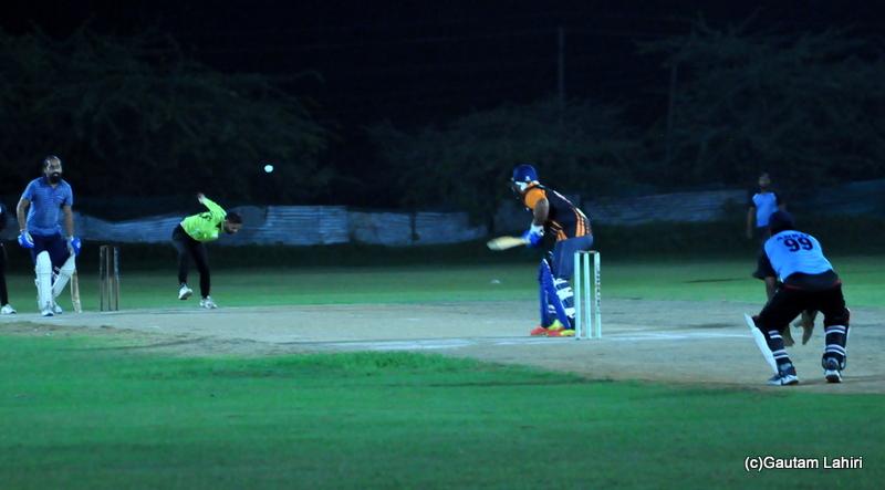 The batsman read to hot a four run by Gautam Lahiri