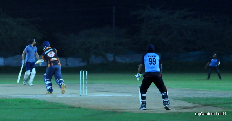Cricket batsman hist a ball, straight to the fielder and is out by Gautam Lahiri