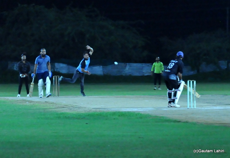 A cricket ball is delivered by the bowler by Gautam Lahiri